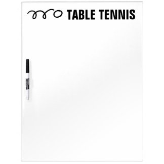 Table tennis scoreboard and training equipment Dry-Erase board