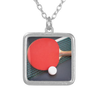 Table Tennis Silver Plated Necklace
