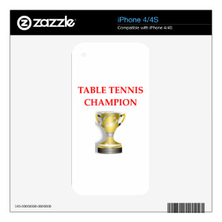 table tennis decal for the iPhone 4S