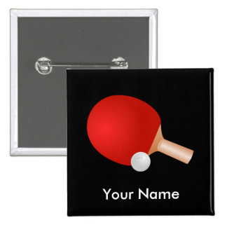 Table Tennis template Pinback Button