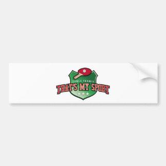 table tennis - that's my sport bumper sticker
