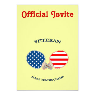 Table Tennis Veteran Card