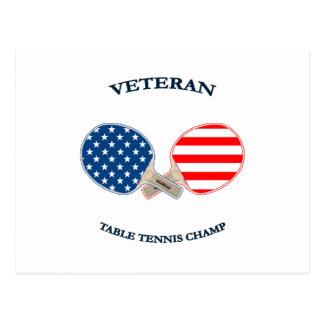 Table Tennis Veteran Postcard