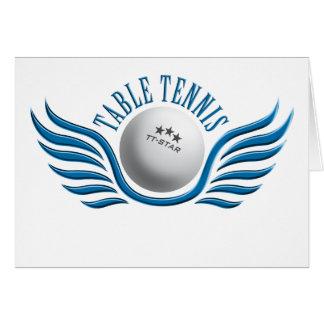 table tennis wings card