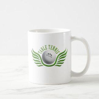 table tennis wings classic white coffee mug