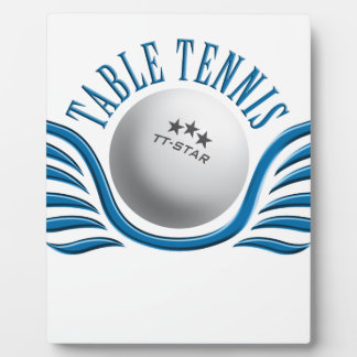 table tennis wings photo plaque