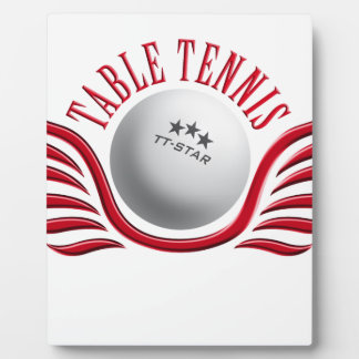 table tennis wings plaque