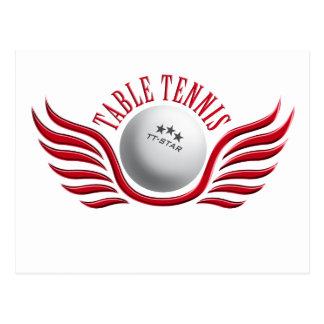 table tennis wings postcard
