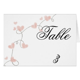 Table Tent Card
