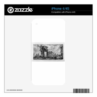 Table text: Following the inscriptions referred Decal For iPhone 4