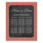 Table Wedding Rustic Chalk Red Poster Seating