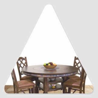 Table with chairs in a frame design triangle sticker