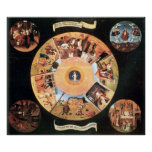 Table with scenes of the seven deadly sins by Bosc Poster