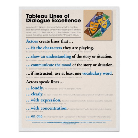 Tableau Lines of Dialogue Excellence Poster