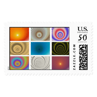Tableau of Circles Postage Stamp