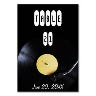TableCard: Disco de vinilo en placa giratoria.