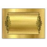 TableCards que se casa elegante, oro