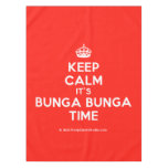 [Crown] keep calm it's bunga bunga time  Tablecloth