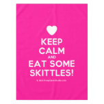 [Love heart] keep calm and eat some skittles!  Tablecloth