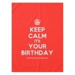[Cupcake] keep calm its your birthday  Tablecloth