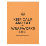 [Crown] keep calm and eat at wrapworks deli  Tablecloth