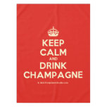 [Crown] keep calm and drink champagne  Tablecloth