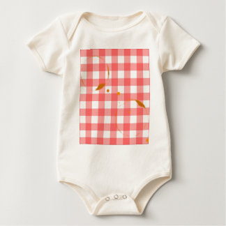 Tablecloth Ring Stains Baby Bodysuit