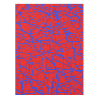 TABLECLOTH TANGLES Red Blue