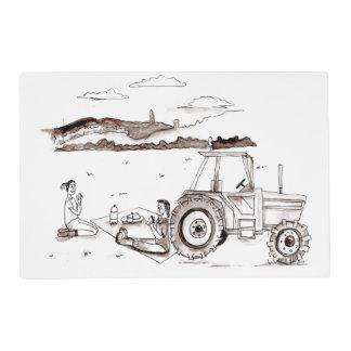 Tablemat - Romantic Farm Picnic Placemat