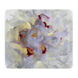 Tablero #1 del corte del vidrio de la flor blanca tablas de cortar