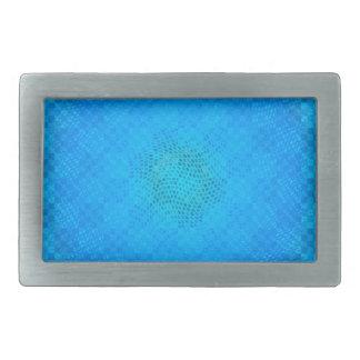 tablero a cuadros de la malla azul abstracta hebillas cinturon rectangulares