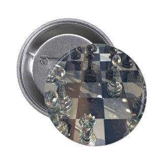 Tablero abstracto del vidrio del ajedrez pin
