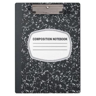 Tablero adaptable del cuaderno de la composición