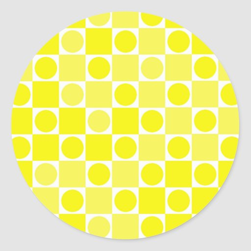 Tablero amarillo y blanco del control pegatina redonda