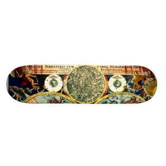 """Tablero antiguo de la pared del arte del vintage d patineta 7 7/8"""""""