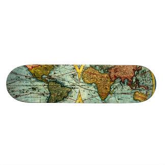 Tablero antiguo de la pared del arte del vintage d skate board