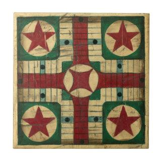 Tablero antiguo del juego de Parcheesi de Ethan Teja Cerámica