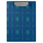 Tablero azul de la tela escocesa