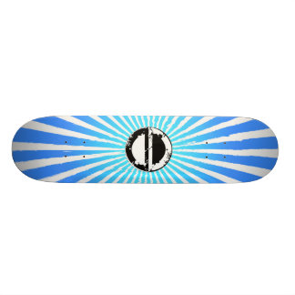 Tablero azul del sol naciente tabla de skate