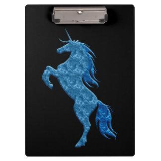 Tablero azul del unicornio del fuego
