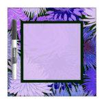 Tablero azul púrpura del Seco-Borrado de las flore Tableros Blancos