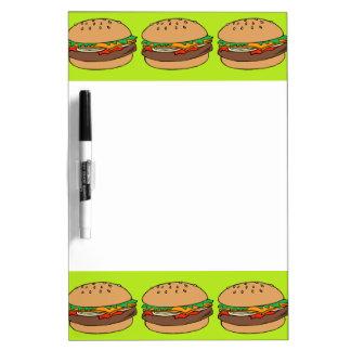 Tablero blanco de la hamburguesa