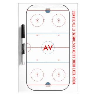 Tablero blanco de la pista del hockey
