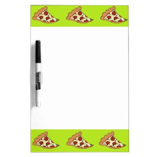 Tablero blanco de la rebanada de la pizza