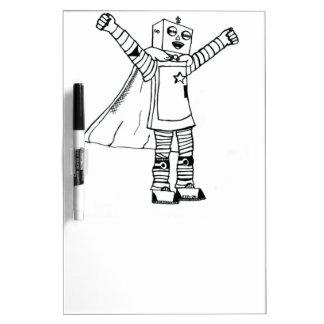 Tablero blanco del robot blanco y negro del super