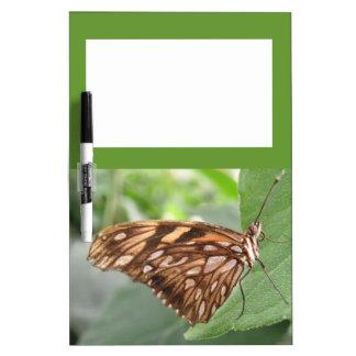 Tablero bonito de la nota de la mariposa de Brown Pizarras Blancas De Calidad