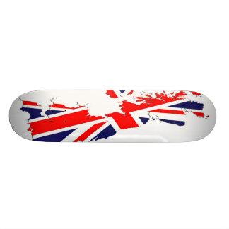Tablero BRITÁNICO del patín de la bandera del mapa