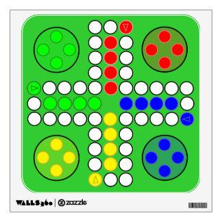Tablero clásico del juego de Ludo Vinilo Adhesivo