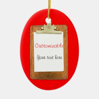 Tablero con el Libro Blanco llano Ornamento De Navidad