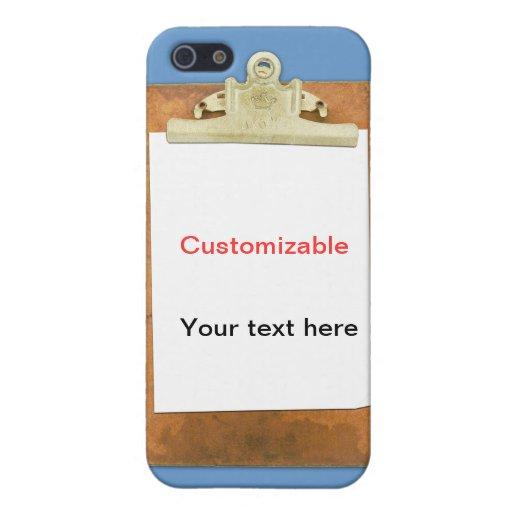 Tablero con el Libro Blanco llano iPhone 5 Protector